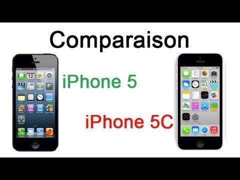 comparatif 5 et 5c