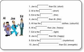 comparatif anglais