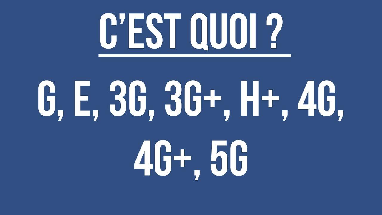 comparatif h+ et 4g