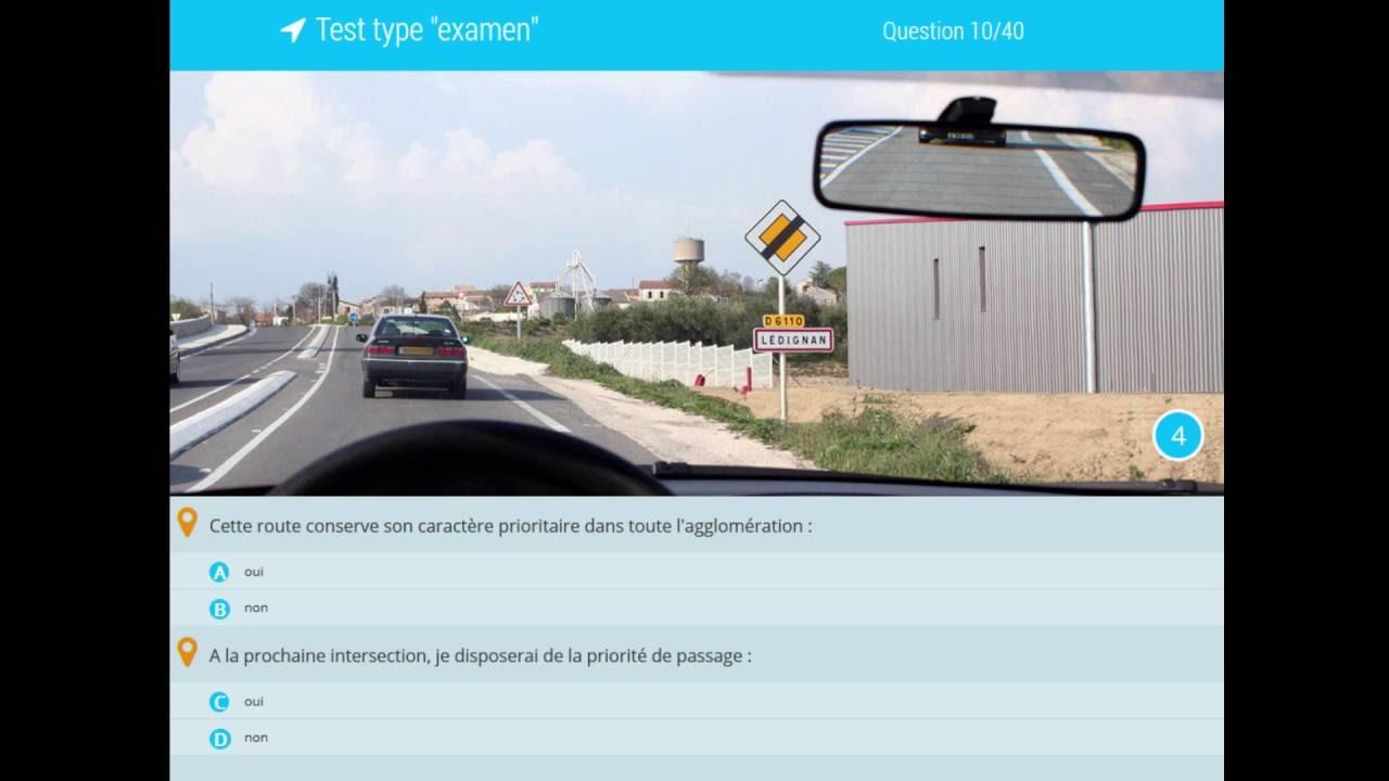 test de 40 questions code de la route gratuit