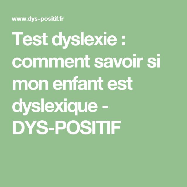 test de dyslexie