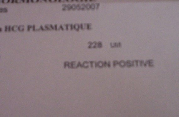 test de grossesse prise de sang