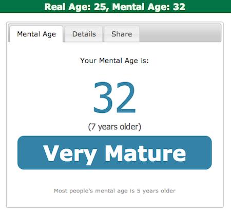 test de l'age mental