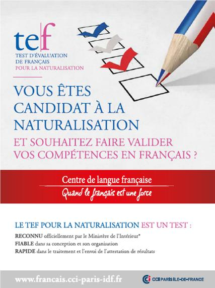 test de naturalisation