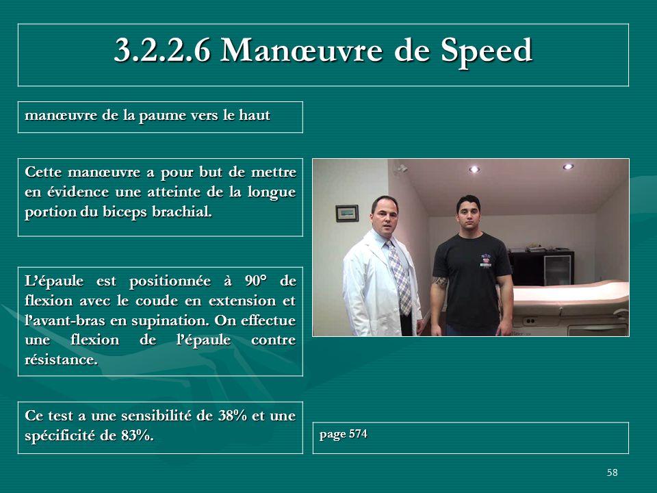 test de speed epaule