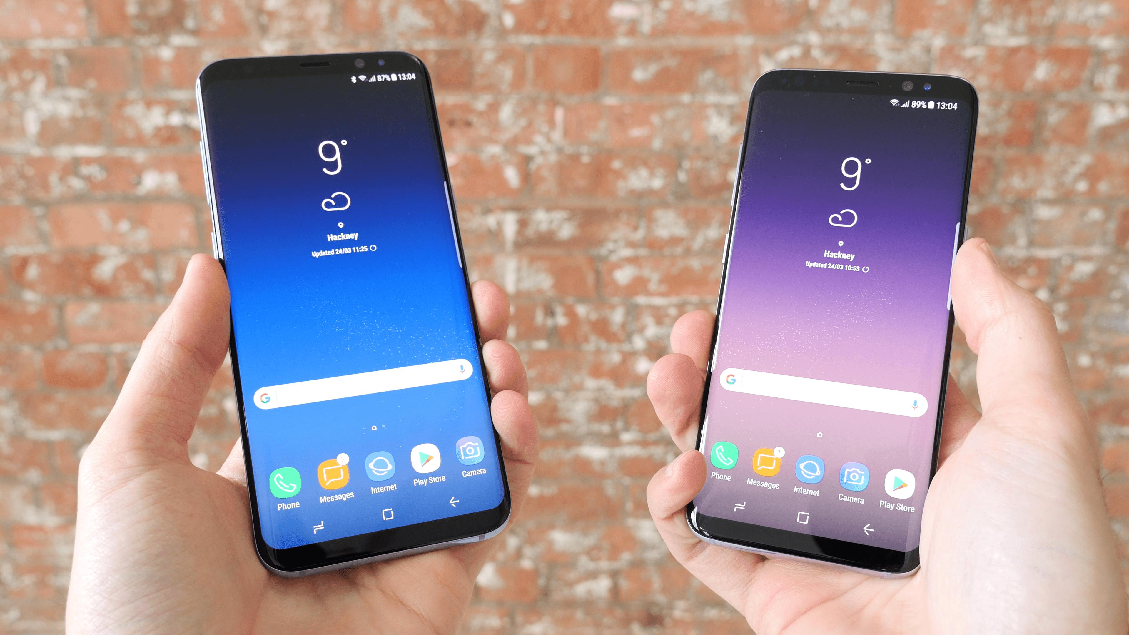 comparatif galaxy s7 et s8