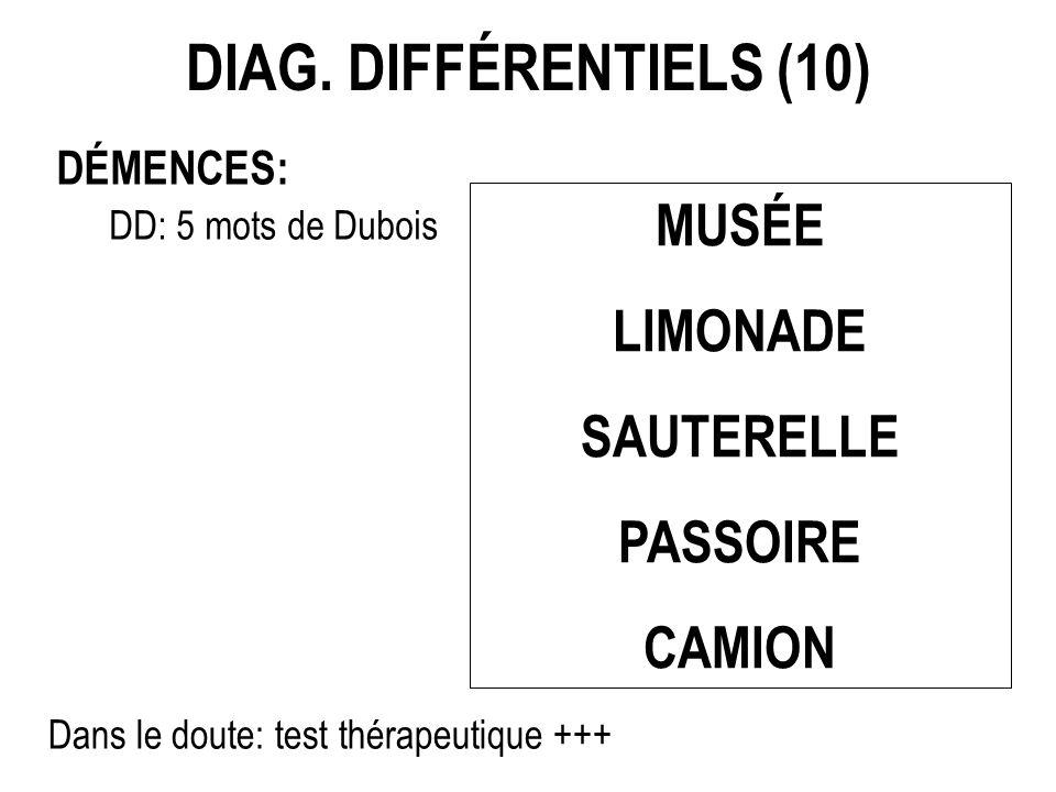 test de 5 mots de dubois
