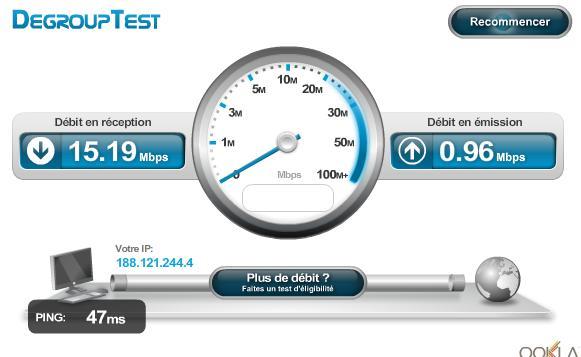 test de bande passante