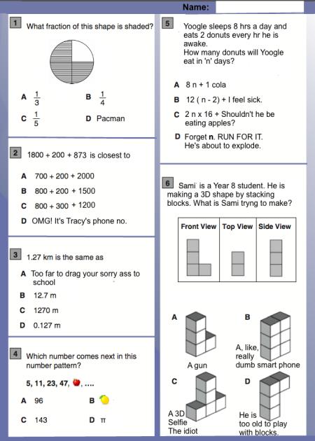 test de math