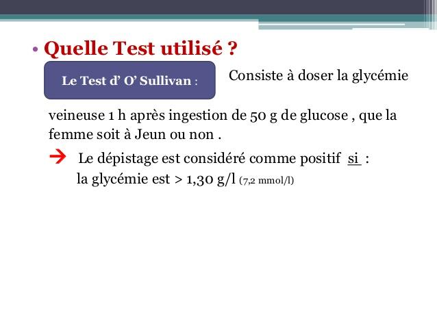 test de o'sullivan grossesse