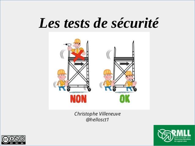 test de securite
