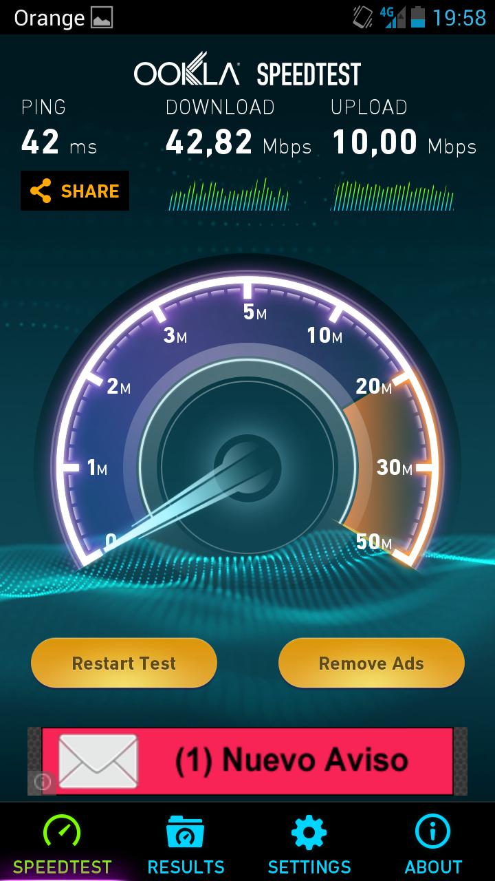 test de velocidad 4g